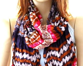 Tribal Authentic cotton scarf - Scarves -  Accesories - Women scarves - Wraps - spring scarves - summer scarves - aztec scarfs - shawl