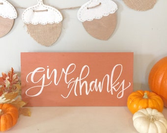 Fall Harvest Thanksgiving Sign - Give Thanks Board