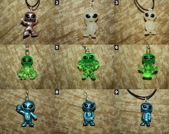 Area 51 Alien Necklaces, Cell Charms, Audio Jack Plugs, Keychains, & Earrings - SELECT STYLE