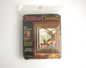 Columbia Minerva Creative Crewel Kit - Mini Pheasants - Frame Included