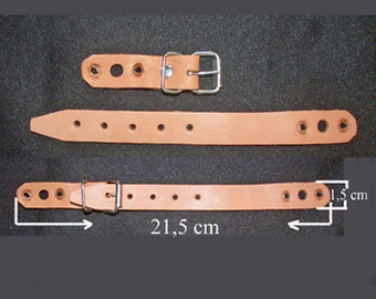 Leren riempjes ( 5 stuks) /Leather straps (5 pieces)