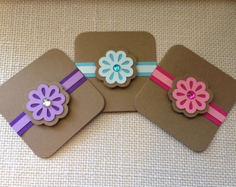 Flower Gift Enclosure Cards