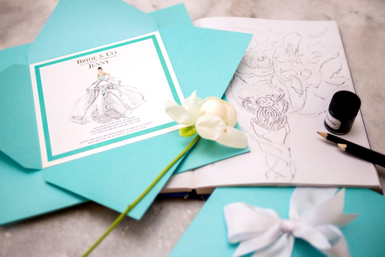 073269ecfd Custom Original Breakfast at Tiffany's / Tiffany Blue Inspired Party  Invitation - Bat Mitzvah, Wedding, Luxe Birthday