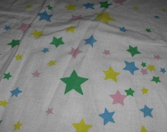 Vintage fabric stars 1970s multicolored
