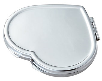 Sweetheart Compact Mirror - Personalized Heart Compact Mirror