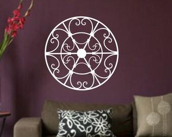 Wrought Iron Appearing decal..W51 wall art decal sticker homer decor sharp Art Deco