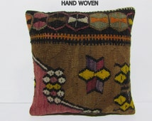 needlepoint pillow 18x18 gypsy fabric outdoor decorative pillow oversized couch pillow bohemian pillow tribal bohemian cushion cover C705