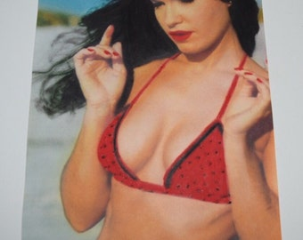 Hand Drawn Pastel Drawing of Bettie Paige
