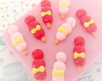 27mm Red Sugar Lollipops cabochon 8pc