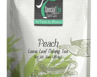 16 oz. Peach Oolong Loose Tea with Free Tea Infuser
