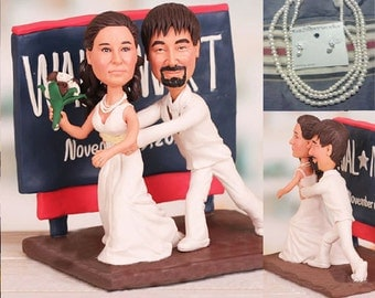 Shopper theme topper - Personalised wedding cake topper  (Free shipping)