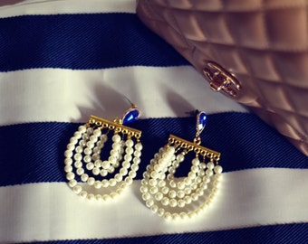Handmade earring with pearls