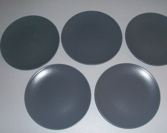 Ikea Dinera Gray Set Of Five Salad Plates