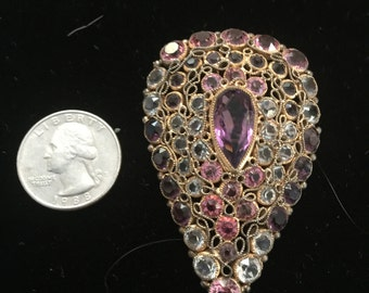 An early Hobe brooch on filigree with paste stones circa 1920s,30s