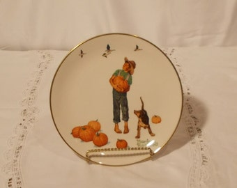 Norman Rockwell, No. 1977, Limited Edition, Fall Pilgrimage Plate, Gorham Fine China, Made in the USA Original 35.00  20% off Now 28.00