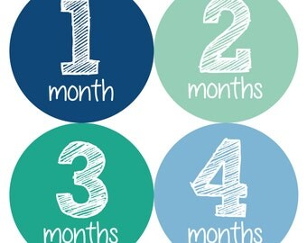 Monthly Baby Stickers, Baby Month Stickers, Baby Month Stickers Boy, Baby Shower Boy, Baby Boy Stickers, Month Stickers Boy, Growth Stickers
