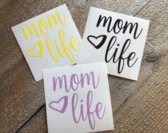 Mom life decal, phone decal, car decal, cup decal, yeti decal, mug decal, sticker, custom decal, mama decal, mommy
