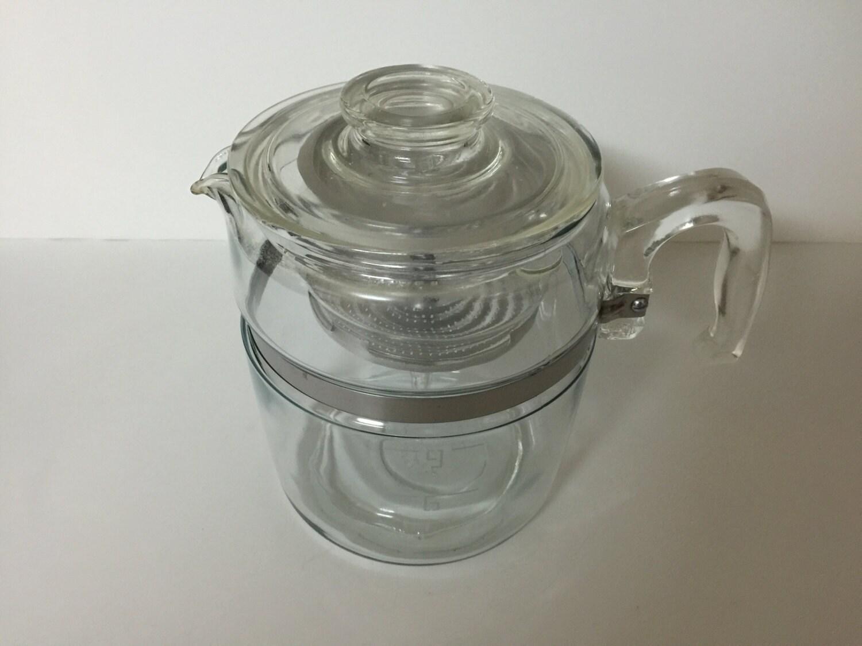 Coffee Maker Glass Pot : Vintage 9 Cup Pyrex Glass Coffee Pot Percolator Complete