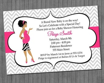 LIMITED TIME 40% OFF Modern Mom Baby Shower Invitations