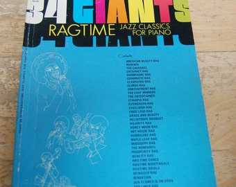 Ragtime Jazz Classics for Piano 34 Giants Sheet Music Song Book