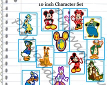 Mickey Mouse Clubhouse, Set of 13 DIGITAL Disney character print outs, minnie mouse birthday party