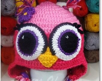 Cute Crochet Owl Hat