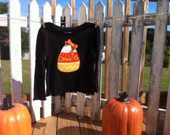 Halloween, Candy Corn, Applique Shirt