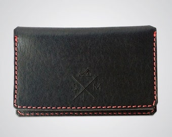 Leather Fold Wallet in Black