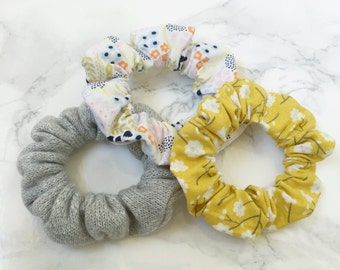 Spring Colors Hair Elastic Scrunchie Set of 3