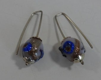 ARTISAN Venetian Glass Bead and Sterling Earrings