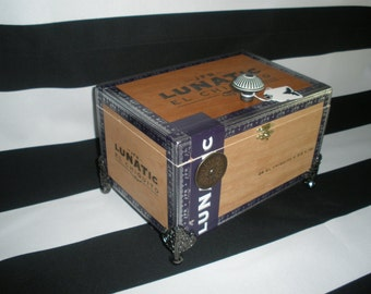 JFR Lunatic Cigar Box Valet, Man Box, Watch Box, Stash Box, Gun Box, Jewelry , New, Tampa