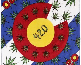 420 Colorado Flag Bandana