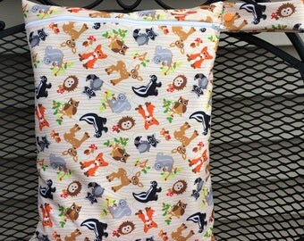 Wet bag for cloth diaper - Forest Pattern