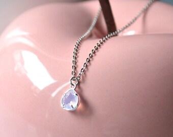 silver rose pendant necklace quatz