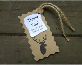 Rustic Wedding Favor Tags, Country Wedding Favor Tags, Deer Wedding Favor Tags, Rustic Wedding, Favor Tags, Deer Favor Tags, Country Wedding