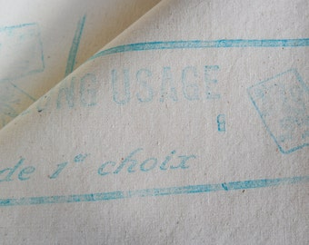 VINTAGE FRENCH LINEN fabric. Unused French linen fabric. Unbleached linen fabric