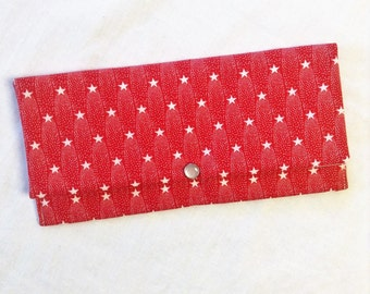 Red and White  Star Wallet