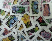 Flowers - Lot of U.S. Postage Stamps for Scrapbooking, Decoupage, Paper Crafts, Collage and More...