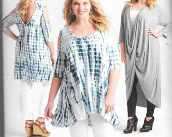 Simplicity Pattern 8141 Knit TWIST TUNIC Mini DRESS Women's Sizes 18W 20W 22W 24W/26W 28W 30W 32W