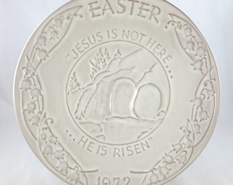 Frankoma Easter Plate 1972 Oral Roberts Association