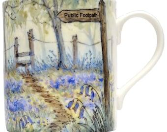 Countryside Mug - Bluebell Wood, Spring