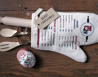 Kitchen Conversion Chart Single Oven Mitt | Cotton | Made in UK