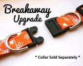 Breakaway Collar UPGRADE, Leash-Safe Breakaway Dog Collar Add-On for Kira's Pet Shop Dog Collars, Dog Accessories, Pet Safety Collar UPGRADE