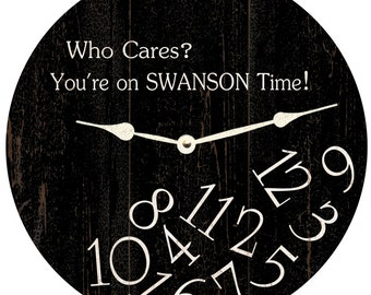 Who Cares Clock-Personalized Clock