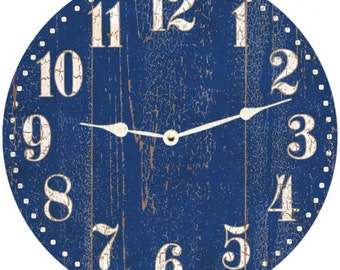 Rustic Blue Clock- Blue Clock