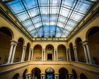 Interior of the Walter's Art Museum, in Mount Vernon, Baltimore, Maryland. | Photo Print, Stretched Canvas, or Metal Print.