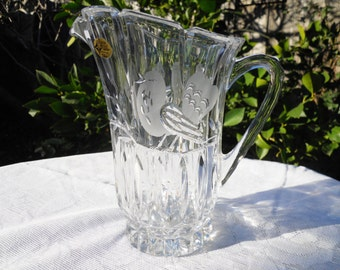 Vintage Crystal Pitcher The European Collection Made in West Germany