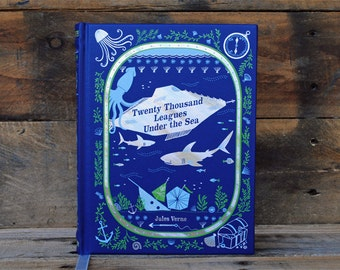 Hollow Book Safe - Twenty Thousand Leagues Under the Sea - Leather Bound