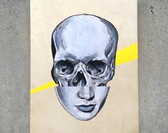 Half Full Skull Painting