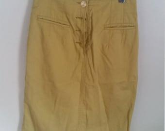 Chartreuse Secretary Skirt
